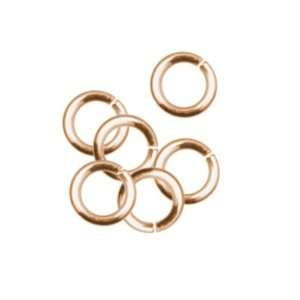 50pc 4mm Open Jump Ring   Rose Gold Plate Arts, Crafts & Sewing