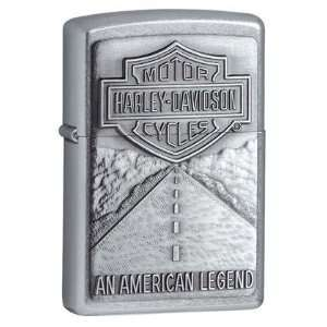 Zippo Harley Davidson American Legend Emblem Street Chrome Lighter