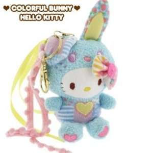 Sanrio Hello Kitty x Colorful Bunny with Long Ribbon Plush Doll Cell