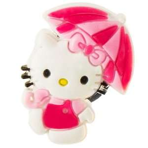 Hello Kitty w/ umbrella croc charm   pink Arts, Crafts & Sewing