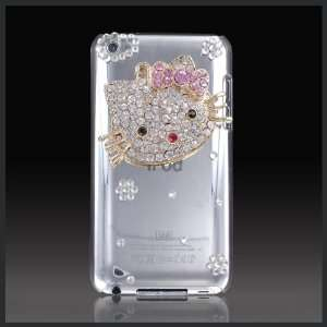 Hello Kitty Face Luxury crystal case cover for Apple iPod Touch 4 4G