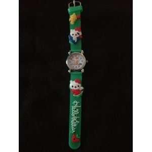 Childrens Hello Kitty Watch (Green)