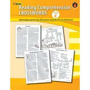 12 Pack EDUPRESS COMPREHENSION CROSSWORDS BOOK GR 4