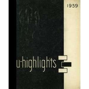 High School , Chicago, Illinois University High School 1959 Yearbook