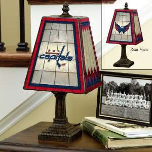 Washington Capitals Hockey Stained Glass Table Lamp
