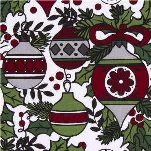 Riley Blake Christmas fabric Xmas tree ornaments (Sold in