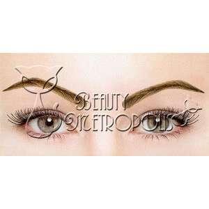 Dark Brown 100% Human Hair Natural False Eye Brow Eyebrow Wig Beauty