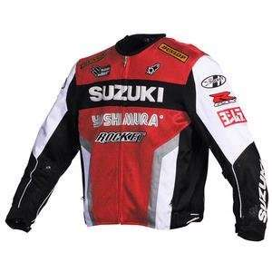 Joe Rocket Mens Suzuki Replica Mesh Motorcycle Jacket (red/white/blk