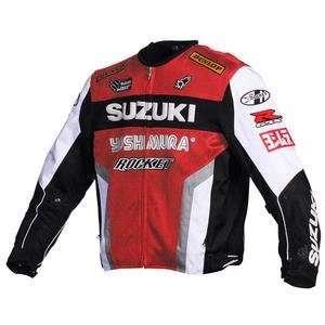 Joe Rocket Mens Suzuki Replica Mesh Motorcycle Jacket (red/white/blk