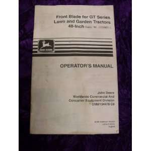 John Deere Front Blade for GT Series OEM OEM Owners Manual John Deere