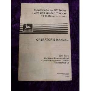 John Deere Front Blade for GT Series OEM OEM Owners Manual John Deere