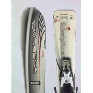 Used Rossignol JR Edge Kids Snow Skis with Bindings 110cm
