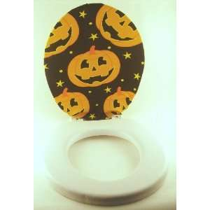 Halloween PUMPKIN Bathroom TOILET SEAT COVER lid NEW