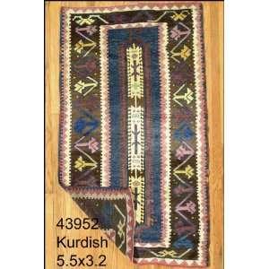 3x5 Hand Knotted Kurd Kurdistan Rug   32x55: Home & Kitchen