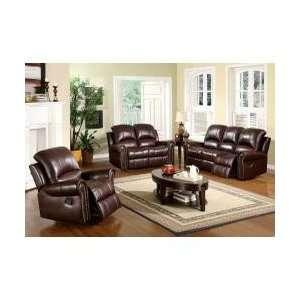 Arlington Reclining Italian Leather Sofa, Loveseat and Chair CH 8811