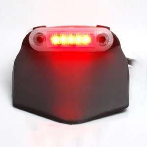 Visible LED Brake Stop Rear Tail Light Red LED Clear Lens