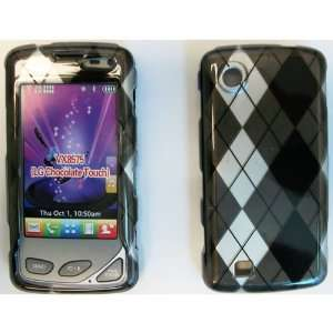 LG CHOCOLATE TOUCH VX8575 BLACK / WHITE / SILVER PLAID CASE