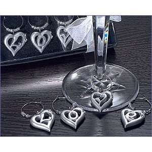 The Love Within My Heart Wine Charms   Wedding Party Favors
