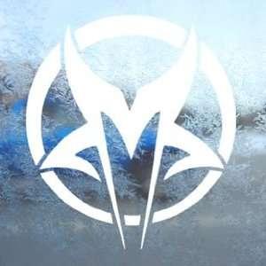 Mudvayne White Decal Metal Rock Band Laptop Window White