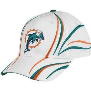 Reebok Miami Dolphins White Airstream Adjustable Hat