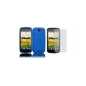 HTC One S (T Mobile) Premium Combo Pack   Blue Silicone