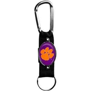 NCAA Clemson Tigers Black Carabiner Clip Keychain Sports
