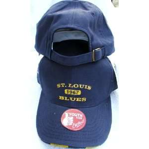 NHL Navy Baseball Cap Hat Adjustable Back Size Youth New Sports