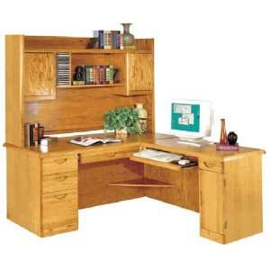 Waterfall Genuine Oak Furniture Collection    Executive L Desk