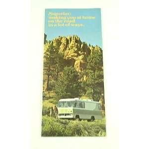 1974 74 SUPERIOR Motorhome RV BROCHURE 2100 2600 2900