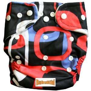 : Bamboo Pocket Snaps Cloth Diaper/ Nappy   OS   Square Prints: Baby