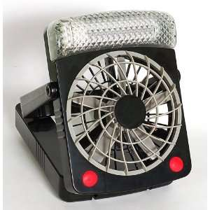 Portable 2 Speed High Power Fan with Light   Battery or AC