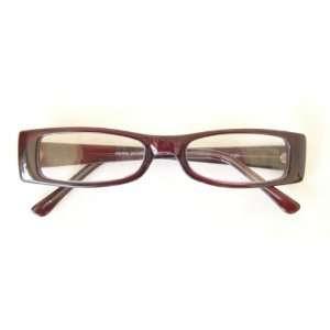 Zoom (G5) Reading Glasses, Rectangle Dark Red Plastic