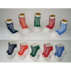 Socks Gift Set, Funky Feet Super Sneakers (Blue, Orange, Green, Red