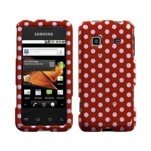 Red White Polka Dots Polka Dot Crystal Hard Case Cover for