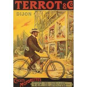 BICYCLE BIKE CYCLES TERROT DIJON FRANCE FRENCH SMALL VINTAGE