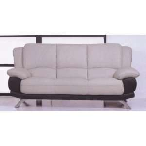 Leather Gray/Black Sofa Model 117 Leather Living Room