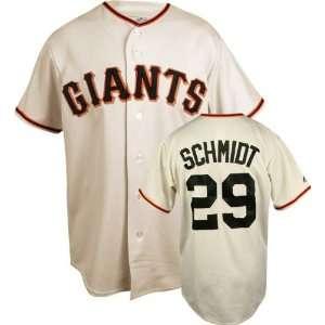 Jason Schmidt Ivory Majestic MLB Home Replica San