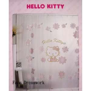 Sanrio Hello Kitty shower Curtain w / 12 Hooks Set