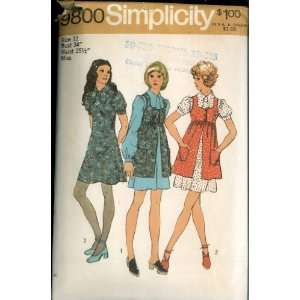 Vintage 1971 Simplicity Pattern 9800   Misses Mini Dress