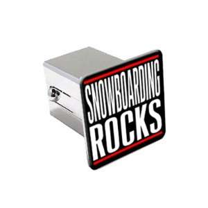 Snowboarding Rocks   2 Chrome Tow Trailer Hitch Cover