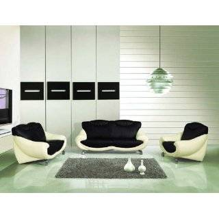 Black Set Sofa, Loveseat and Chair Set with a Matching Coffee Table