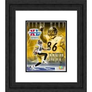 Framed Hines Ward Pittsburgh Steelers Photograph