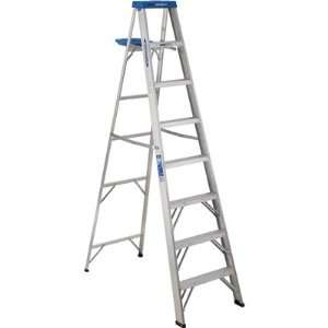 Werner Aluminum Stepladder   Type 1, 8ft.L, 250lb. Capacity, Model