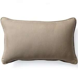 Outdoor Outdoor Lumbar Pillow in Sunbrella Beige   20 x