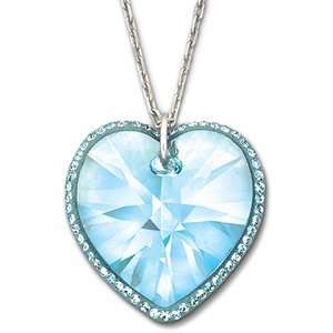 Swarovski Crystal Reverie Heart Pendant Aqua Jewelry