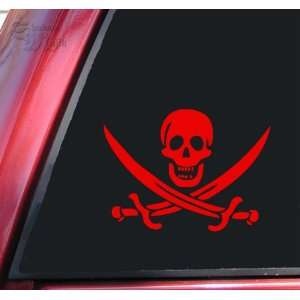 Pirate Skull & Crossed Swords Jolly Roger Vinyl Decal