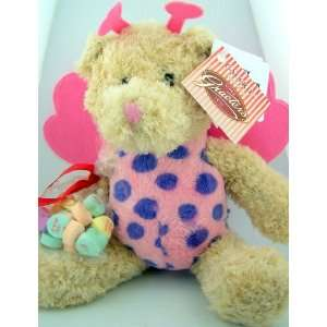 Lady Bug Teddy Bear with Graeters Fine Valentines Day Gift Candy Heart