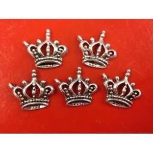 10 Piece Crown Antique Silver Tibetan Style Charms