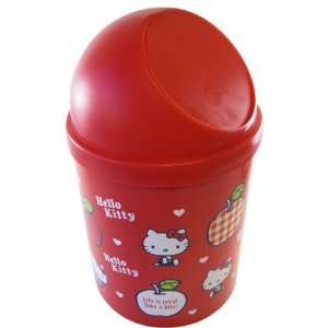 Hello Kitty Red Apples Trash Bin Toys & Games