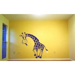 Vinyl Wall Decal Sticker 7ft Tall BIG Giraffe 84x59